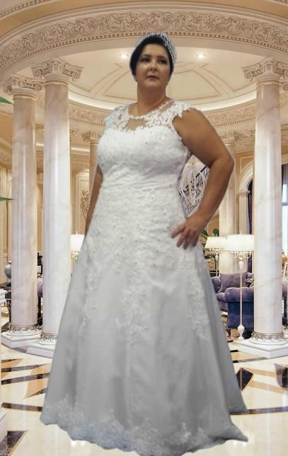 Noiva Plus Size Evasê - cod: 703