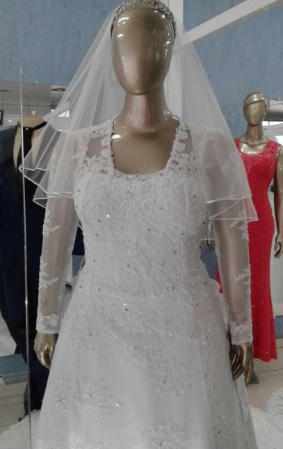 Noiva Plus Size Evasê - cod: 705a