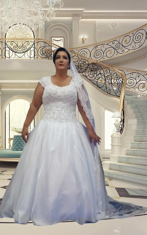 Noiva Plus Size Princesa - cod 804